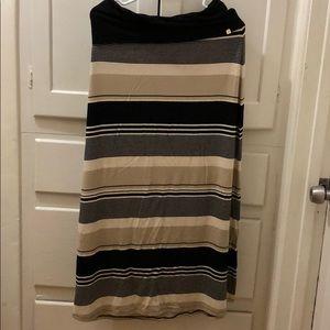 Calvin Klein Stripped Maxi Skirt